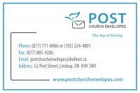 Post Church Envelopes sign